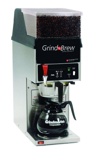 Grindmaster-Cecilware GNB-11H Grind and Brew Coffee System 3-Function Technology Decanter Brewer with 5.5-Pound Bean Hopper