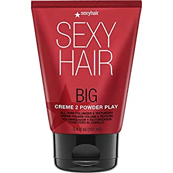 SexyHair Big Crème to Powder Play All Over Volumizer and Texturizer 3.4 Oz | Up to 100% More Volume | Crème to Powder Formula | All Hair Types