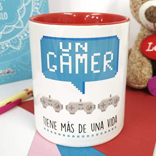 La Mente es Maravillosa - Taza con frase y dibujo divertido (Un gamer