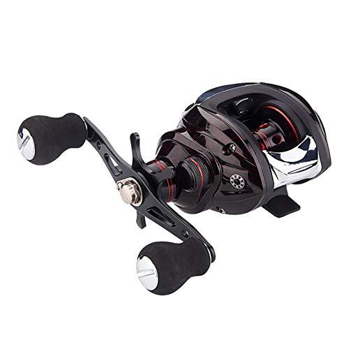 HEQIE-YONGP Carretes de Pesca BaitCasting Reel Spool Trolling Reel Reeles Perfil Pesca Reel Carrete Pesca Carrete Giratorio (Use Mode : Left Hand)