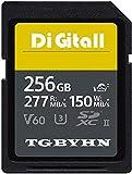 Large carte mémoire SDXC UHS-II 256 Go Classe 10 SD, C10, U3, stockage de données, idéal pour les appareils photo reflex numériques et 3D, caméscopes HD (256 Go)