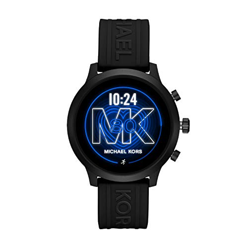 Michael Kors Access  MKGO Touchscreen Aluminum and Silicone Smartwatch, Black-MKT5072