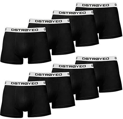 DSTROYED ® Boxershorts Men Herren 8er Pack Unterwäsche Unterhosen Männer Retroshorts 316 (M, 315b 8er Set Schwarz-Weiß)