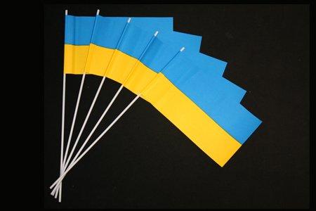 Papierfähnchen: blau-gelb 50er Packung