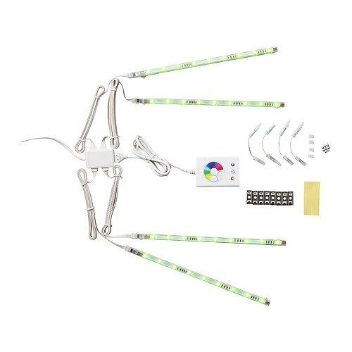 Ikea 501.923.65 Dioder LED Light Strip Set, Multicolor, 4-Piece