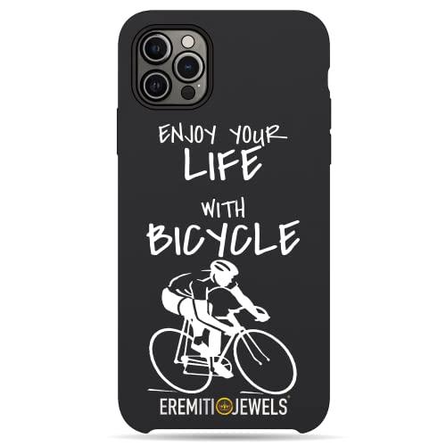 Cover IPHONE compatibile - GODITI LA TUA VITA IN BICICLETTA - personalizzata con effetto Rilievo 3D morbida Slim Super Protettiva (5/5S/SE 2016)