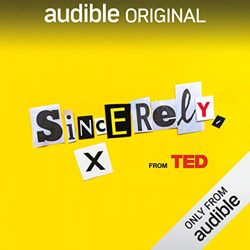 Sincerely, X audiobook cover art