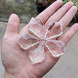 ABCBCA 5 unids 50 mm Crystal Prism Chandelier Piezas de Arce Hoja Vidrio facetado Colgante Colgante Cristal cucláctico casero decoración de Boda estatuilla (Color : White, Size : 50mm 5pcs)