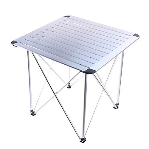 1yess 28-Zoll-Multifunktions-Aluminium-Legierung Folding Outdoor-Camping-Tisch, Sturdy verschleißfesten korrosionsbeständig Rostschutz, for den Ausflug Picknick Selbstautotour 8bayfa