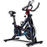 Goplus Indoor Cycling Bike, Adjustable Fitness Exercise Bike with LCD Display, Comfortable Seat...
