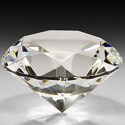 PULABO 40 mm großer künstlicher Diamant klarer Briefbeschwerer facettiertes geschliffenes Glas DIY Werkzeug langlebig und praktisch.