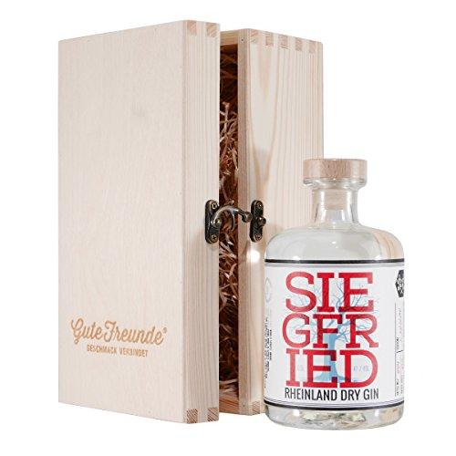 Siegfried Rheinland Dry Gin mit Geschenk-Holzkiste