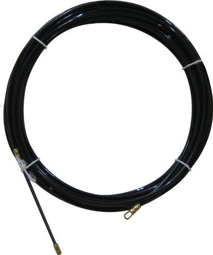 Electraline 61055 - Guía pasahílos (nailon, 20 m), color negro