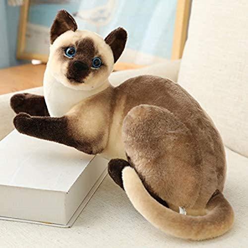 Lebensleine siamesische Katzen Plüsch Spielzeug Simulation Amerikanisch Kurzhaar Nette Katze Puppe Haustierspielzeug Wohnkultur Geschenk für Mädchen Geburtstag-6-25 cm-25cm (Farbe: 5, Größe: 30 cm)