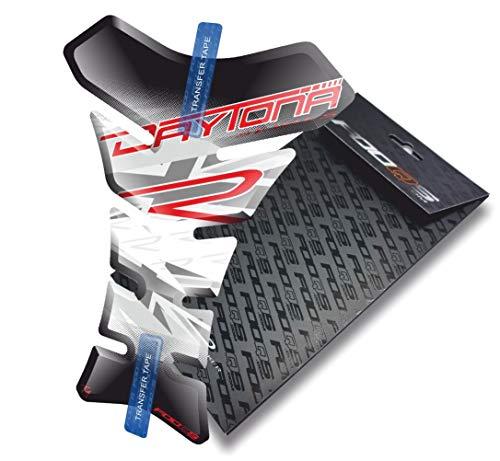 Tankpad pour Triumph Daytona 675 600 R RX SE (Blanc/Rouge)