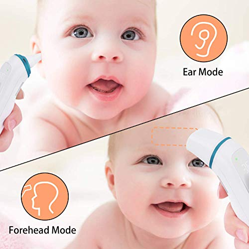 【Latest Version】Caroune Non-Touch Forehead Thermometer for Fever, Medical Digital Infrared Temporal Thermometer for Fever, Instant Accurate Reading for Baby Kids and Adults