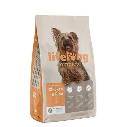 Marchio Amazon- Lifelong Complete - Alimento secco completo per cani adulti (razze di piccola taglia) ricco in pollo e riso, 1 x 10 kg