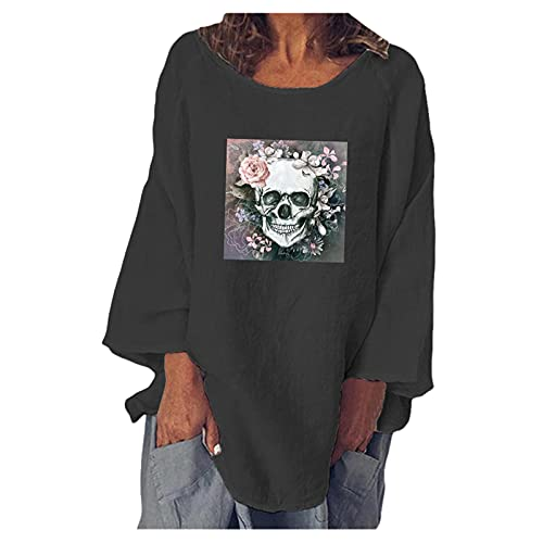 YAOBF Biene Maja Langarmshirt Kapuzenpullover Damen Pullover Langarmshirt Sweatshirt Sweatshirtstoff Blau (Schwarz 2,M)