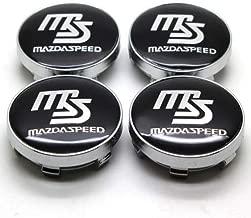 kil1 MS MAZDASPEED Wheel Center Hub Caps Black for Mazda 2 3 6 RX8 Miata MX5 60MM