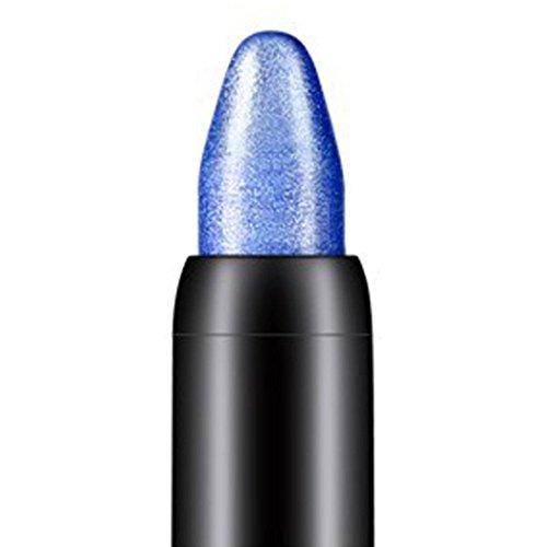 Tonsee Femmes Beauté Surligneur Crayon À Paupières Cosmétique Glitter Ombre À Paupières Eyeliner Stylo Outil De Maquillage Portable, 116cm (Bleu foncé)