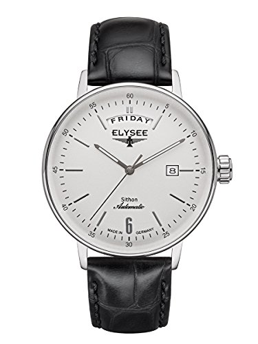 Elysee Sithon Automatic Calendar Herrenuhr mit hochwertigem Leder- oder Meshband