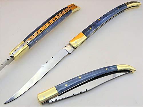 DMZ Laguiole-Taschenmesser-Spanisches Messer-Stiletto-Klappmesser -23cm- (RSV4bl)