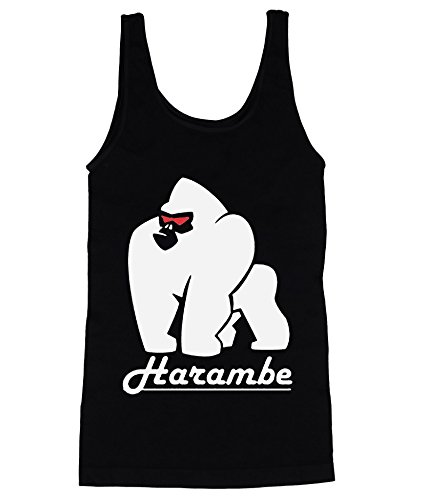 Gorilla Harambe with Red Eyes Men's Herren Tank Top Shirt Large