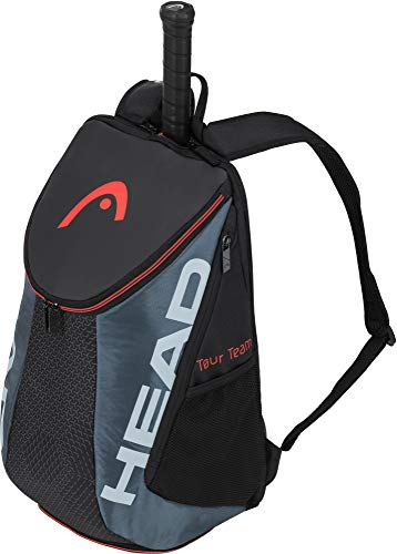 HEAD Unisex's Tour Team Backpack Tennis Bag, Black/Grey, One Size