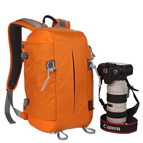 WUZHENG Große Kapazität wasserdicht Anti-Stoß-DSR/DSLR-Kamera-Bag-Fabriker-Rucksack für Canon Nikon Nikon Nikon Nikon Olympus Samsung,Orange