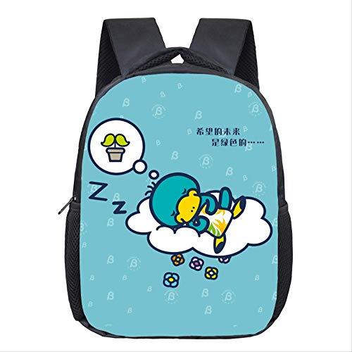 3D Tier Rucksack, Platypus Cartoon Mode Rucksack Schultertasche, Große Kapazität Dekompression Sporttasche, Für Teenager Mädchen Jungen blau