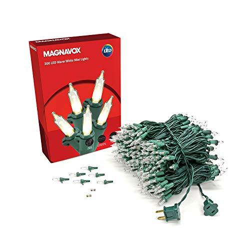 MAGNAVOX 300lt Warm White LED Smooth Mini Set Light String