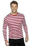 Smiffy's Smiffys-46830L Camiseta de Payaso siniestro de Manga Larga, Color Rojo, L - Tamaño 42'-44' 46830L