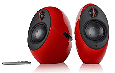 Edifier E25HD Luna Eclipse Bluetooth 4.0 Bookshelf Speakers with Remote Control - Red from Edifier