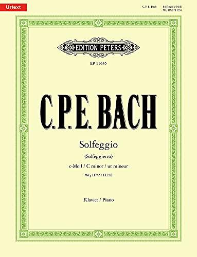 Solfeggio (Solfeggietto) c-Moll Wq 117/2 / H220: Partitur für Klavier