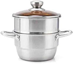 XSWY Soup Pot, 304 Stainless Steel Soup Pot, 20CM All-purpose Soup Pot (Color : Clear)