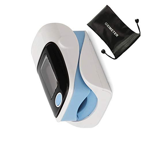 ZXG Portátil Oxímetro de Dedo Precisión Durabilidad Digital OLED Yema del Dedo Oxímetro de Pulso SPO2 Pulso Monitor de oxígeno Cuidado de la Salud,Blue