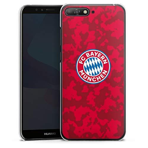 DeinDesign Hard Hülle kompatibel mit Huawei Y6 2018 Schutzhülle transparent Smartphone Backcover FC Bayern München Camouflage FCB