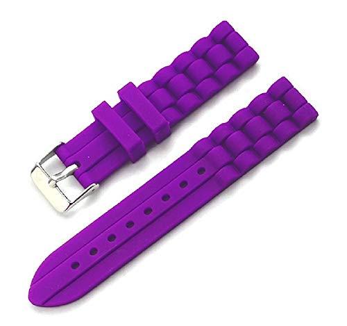 C CAVADINI Welle Unisex Silikon Uhrenarmband Diver (18mm, violett)