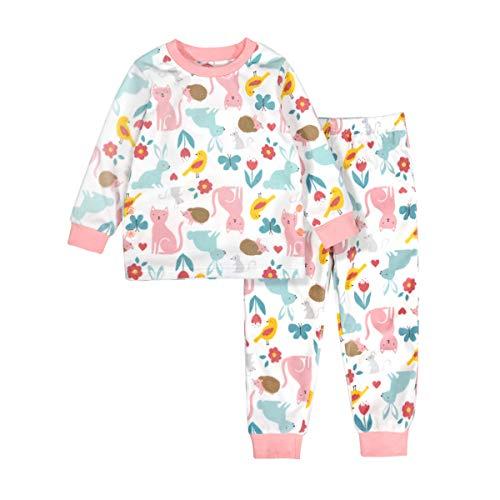 Conjunto de pijama para niños y niñas, de manga larga, 2 piezas, sudadera de forro polar,...