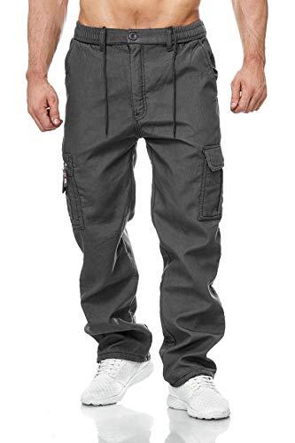 EGOMAXX Herren Cargo Hose Arbeitshose Gefüttert Workwear H2000, Farben:Grau, Größe Hosen:3XL