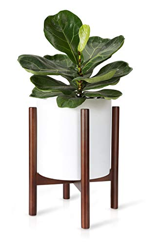 Mkono Plant Stand Mid Century Wood Flower Pot Holder (Plant...