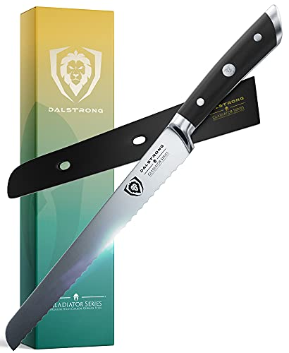 DALSTRONG Serrated Bread Knife - 10' - Gladiator Series -...