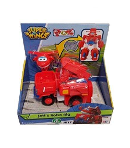 Super Wings Giochi PREZIOSI - Veicolo TRASFORMABILE Robot JETT'S Robo Ring
