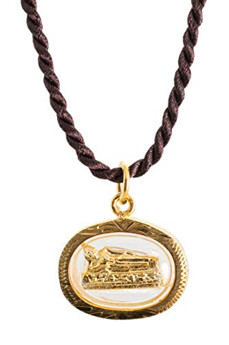 "Weekday Birthday Buddha Golden Thai Amulet Pendant (Tuesday - Phra Sai Yas ""Reclining"")"