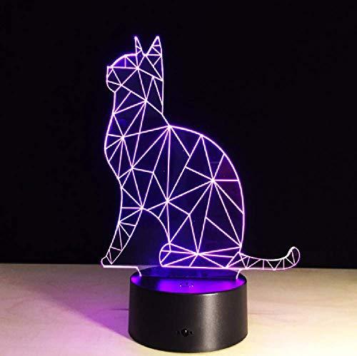 7 Colores Animal Gato 3D Led Luz De Noche Usb Led Amimal Bluetooth Altavoz Lámpara De Mesa De Escritorio Para Decoración Del Hogar
