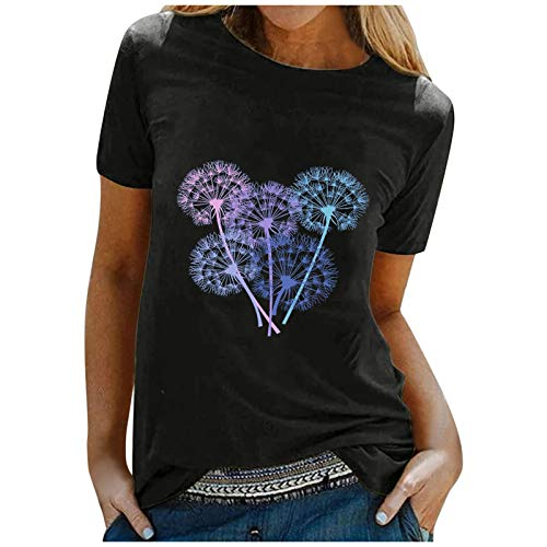 WOBANG WO-1120 - Camiseta de verano para mujer, parte superior de sauce, bonita animal, pequeño burro...