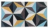 Alfombra Salón&Dormitorio Fibra de Poliester Fregable Antideslizante Geométrico (60x110cm)