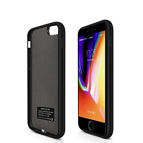 Battery Case for iPhone 8/7/6/6s Apple Charging case 5000mAh 4.7 Inches Portable Charger Case Rechargeable Charging Case External Battery Pack for iPhone 8/7/6/6s -Black
