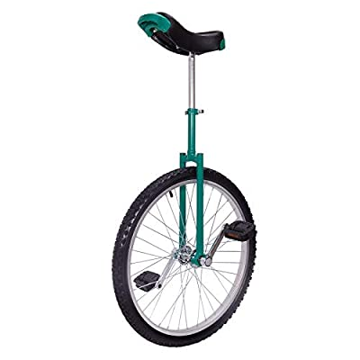 "LIFELEADS 24 inch Wheel Unicycle for Adults and Alloy Rim Extra Thick Tire(24"" x 2.125"" Width Tire) for Outdoor Sports Fitness Exercise (24'',Green)"