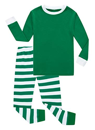 Family Feeling Little Girls Boys Christmas Pajamas Sets 100% Cotton Pyjamas Toddler Kids Pjs Size 18-24 Months Striped